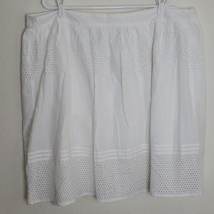 Old Navy Plus Taille Forte White Skirt